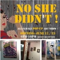 "Art: ""No She Didn't"" All Female Pop-Up Art Show"